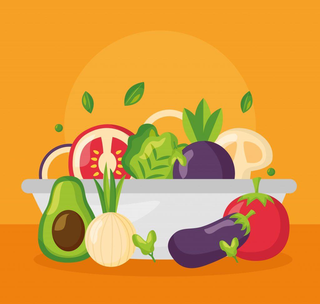 miska z warzywami