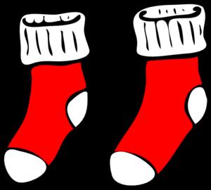 czerwone skarpetki