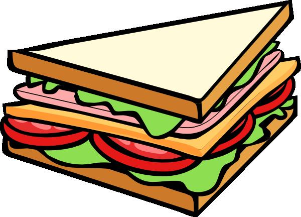 kanapka z serem wędliną pomidorem i sałatą
