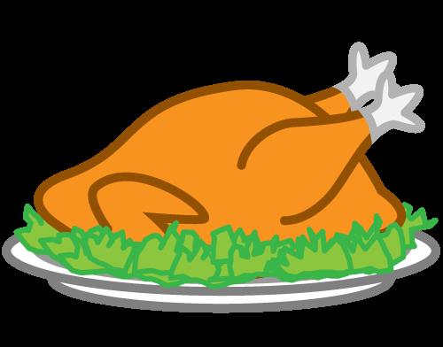pieczony kurczak na talerzu