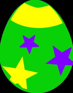 zielona pisanka w gwiazki