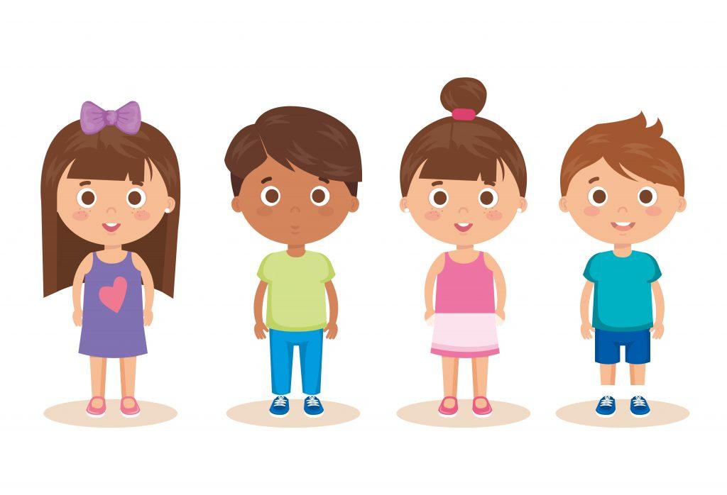 czwórka dzieci