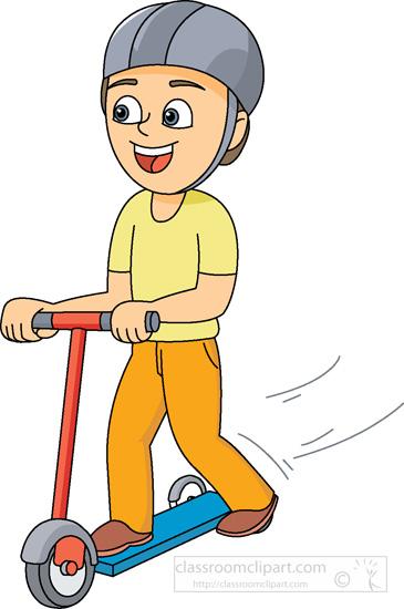chłopiec na hulajnodze