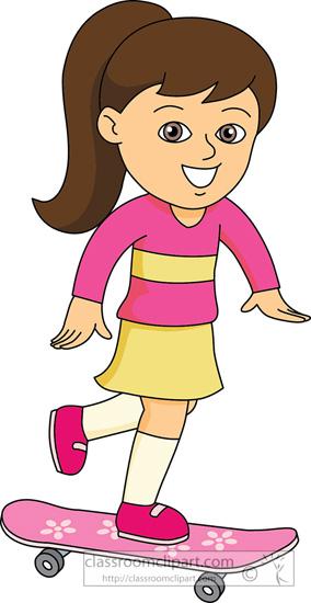 dziewczynka na deskorolce