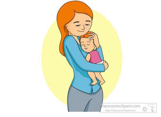 mama z dzieckiem na rękach