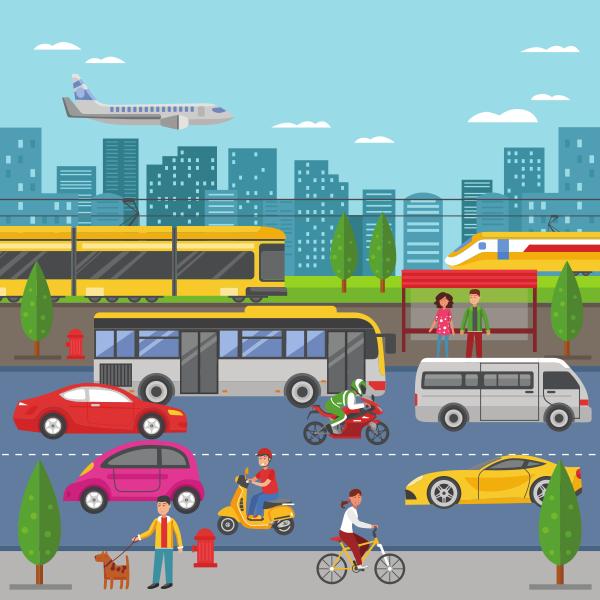 środki transportu w mieście