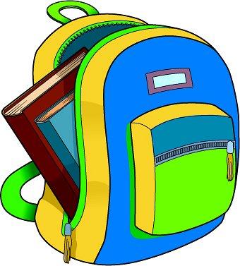 plecak, z którego wystają książki