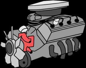 Silnik samochodu.